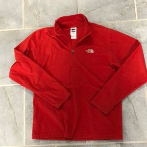 Red North Face half zip.  Like New.
